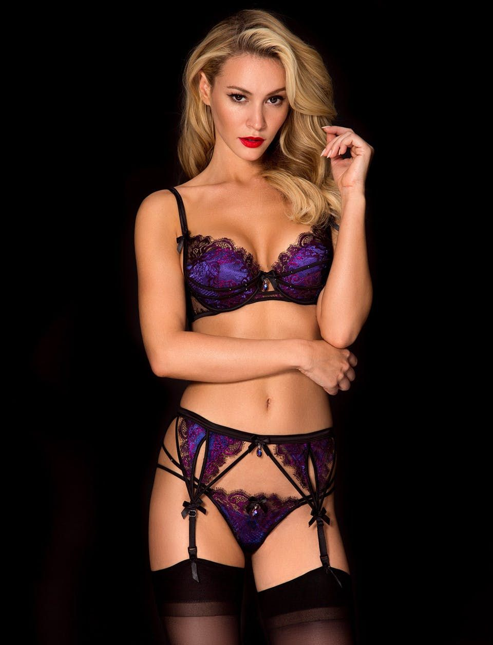 50271af97d312 Brittney Thong Suspender Set | Shop Lingerie Honey Birdette ...