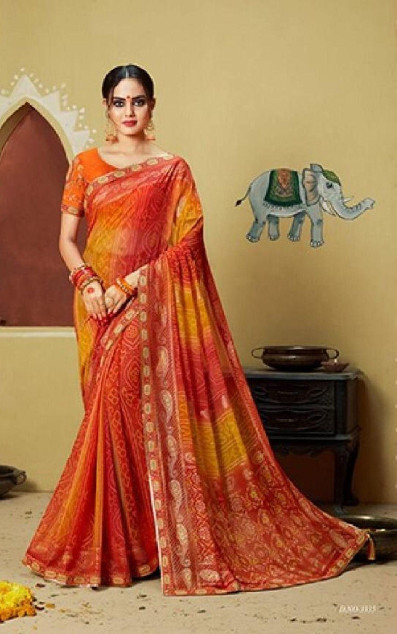 Satin silk saree designers saree foil print saree heavy quality soft silk women/'s saree saree blouse,bridal saree sari green saree