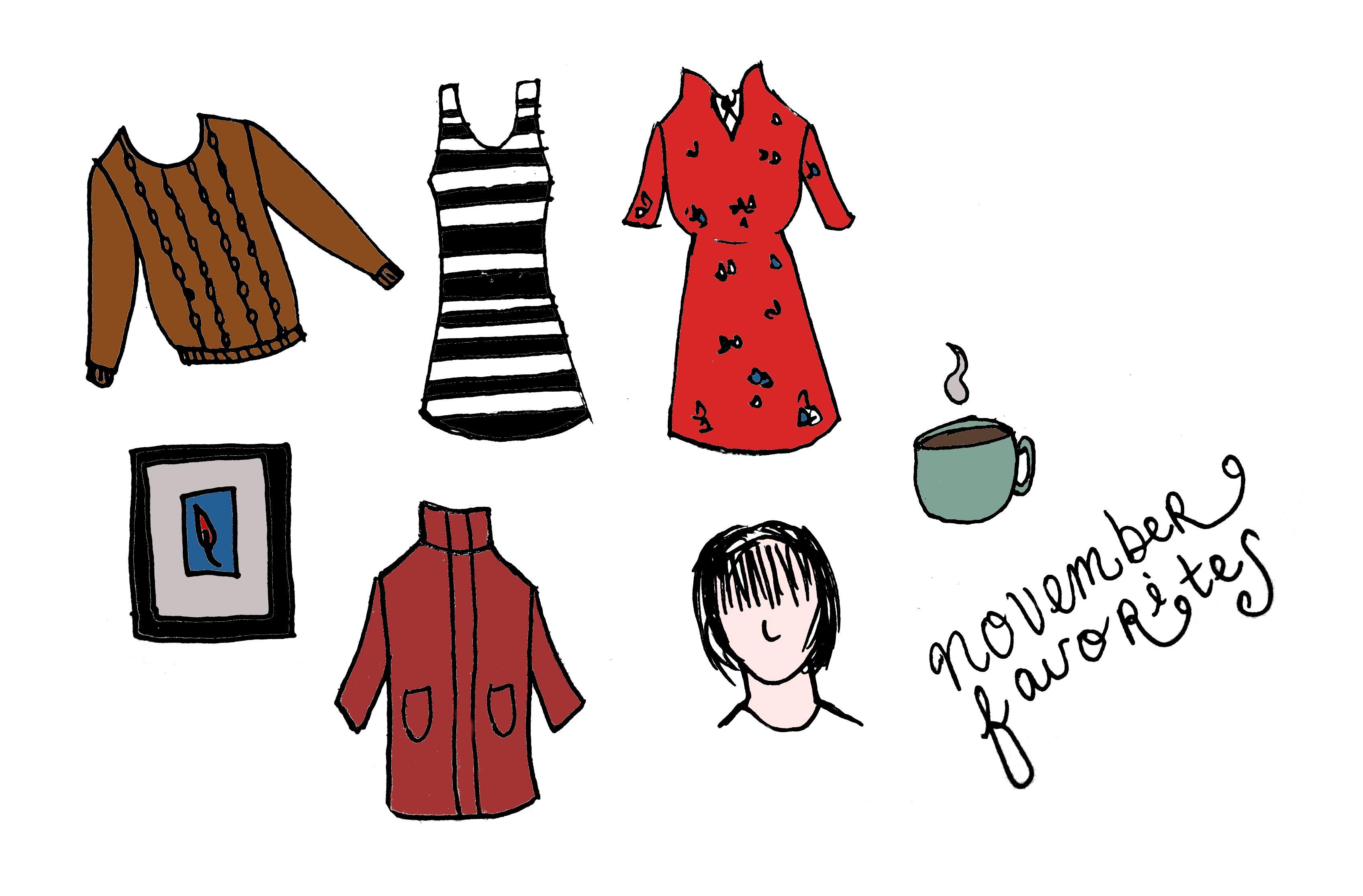 illustrated favorites fashion doodle