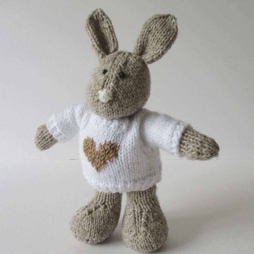 Pip the bunny knitting patterns bunny and toy pip is a huggable toy bunny this bunny is knitted flat on straight needles dt1010fo