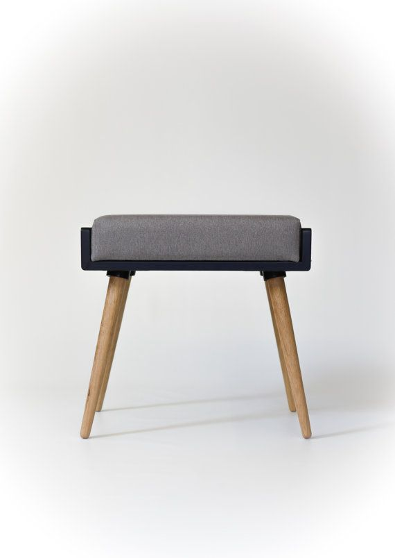 NEW Stool / Seat / Ottoman / bench in black lacquer by Habitables ...