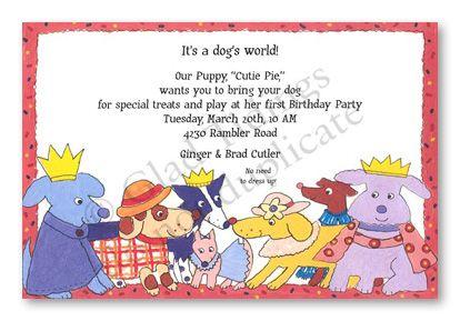 dog themed birthday invitations Google Search – Dog Themed Birthday Party Invitations