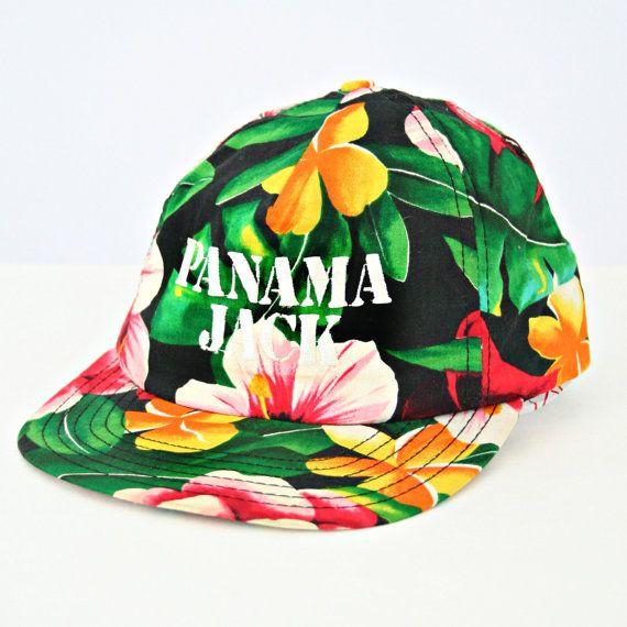 a929da777f0 vintage 90s floral PANAMA JACK snapback hat by PasseNouveauVintage ...