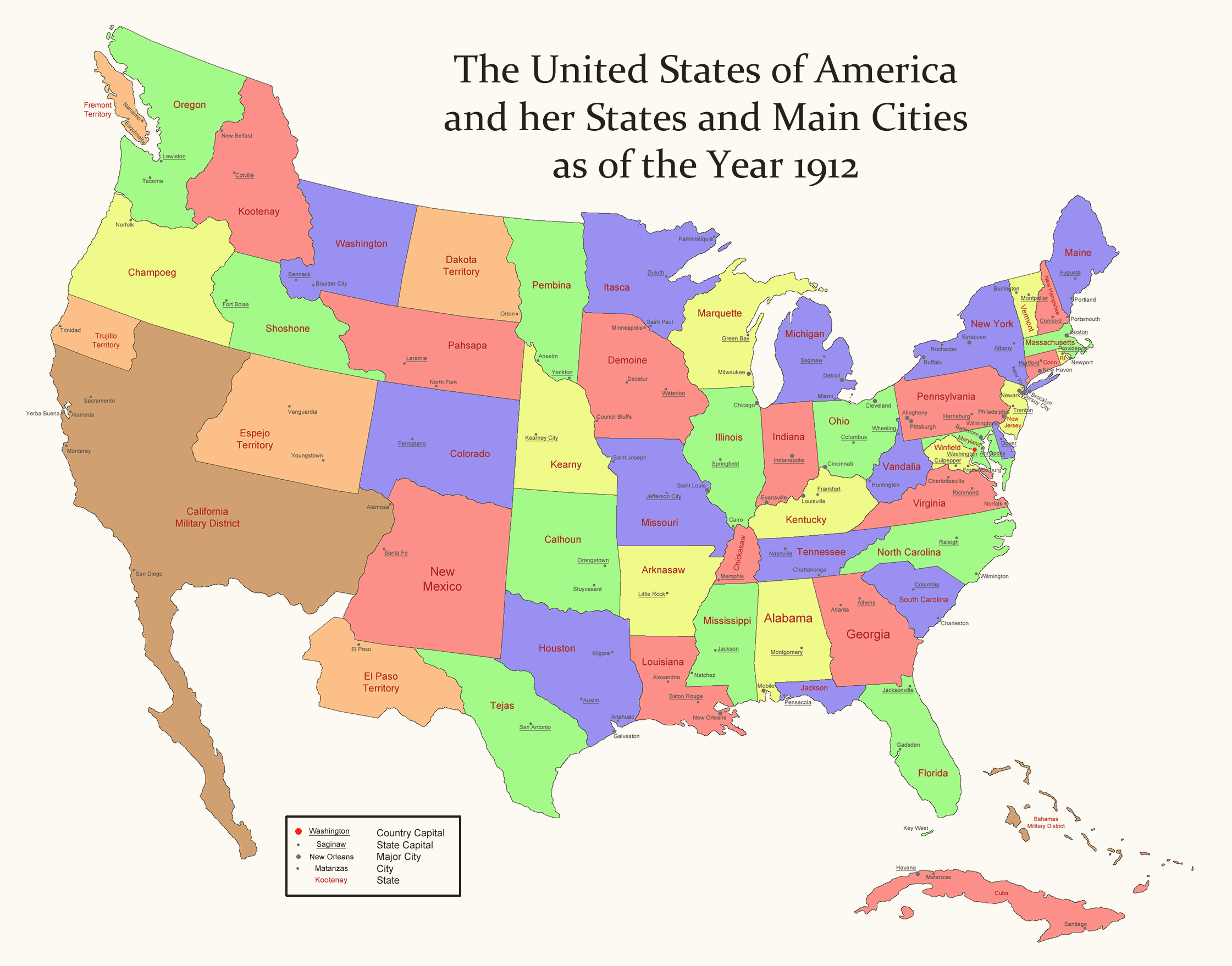 Alternate History Weekly Update One Way To Divide America - Alternative us map