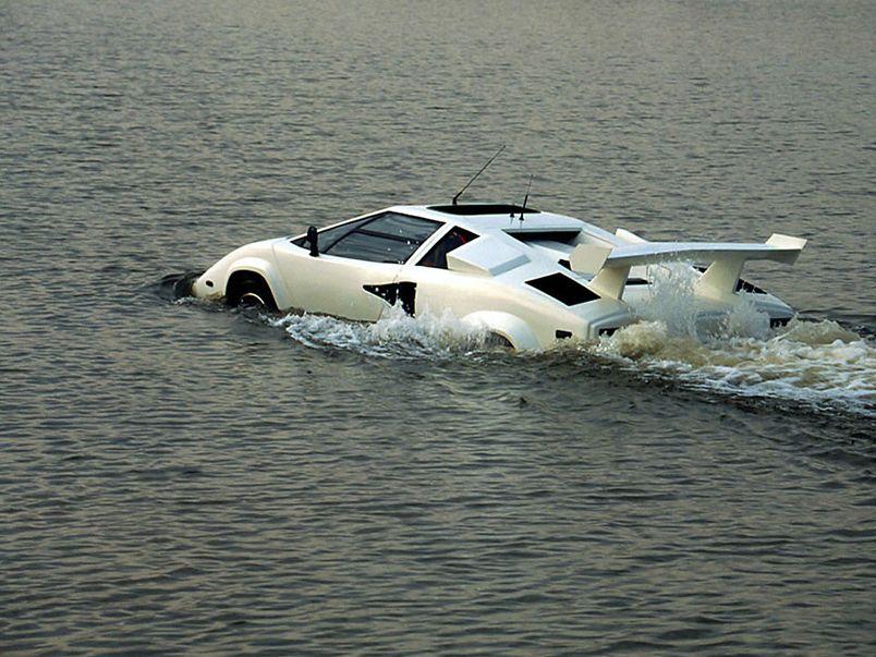 Amphibious Car | Mid Engined Lamborghini Countach Designed By Amphibious  Car Expert .