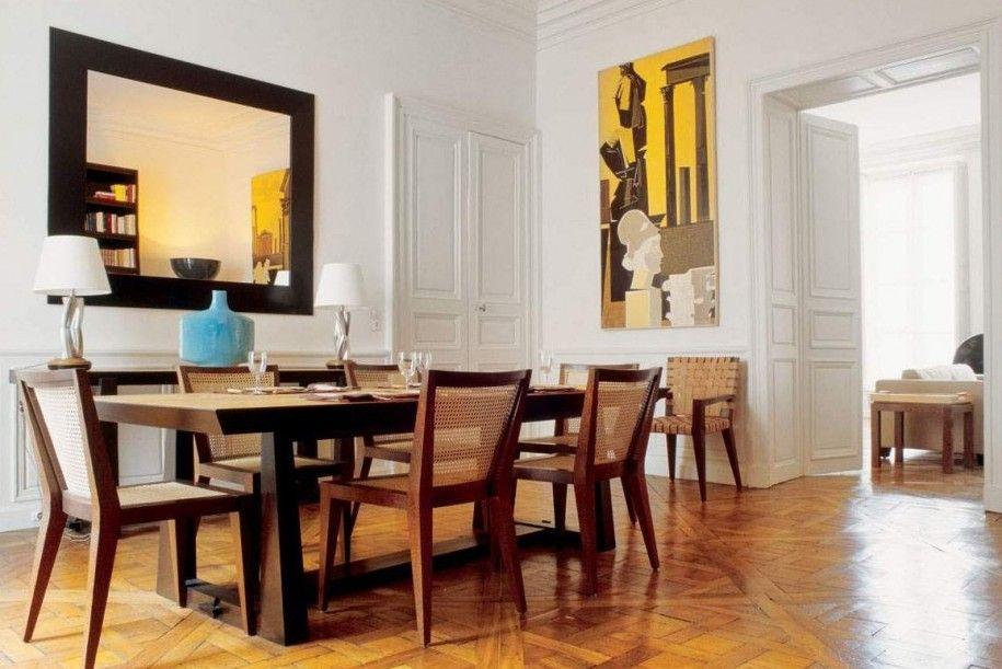 st tropez black mirrorred dining table. lisseth loves hosting
