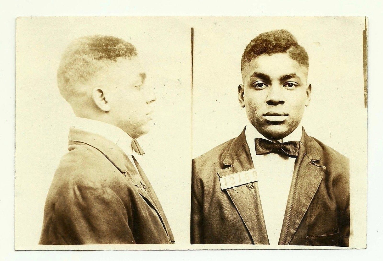 The vintage mugshots of shoplifters bank robbers and murderers from - Old 1924 Photo Mug Shot Police Black Man African American Vintage Handsome Gay 25 00