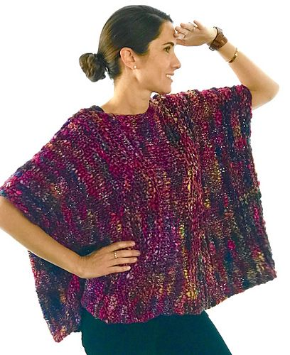 This Beautiful Poncho Is So Easy To Knit - Post