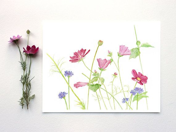 This Is A Beautiful Signed Archival Print Called Wildflowers