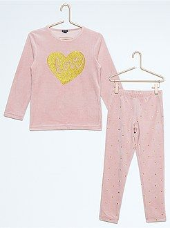 Pijamas - Pijama de terciopelo de 2 piezas - Kiabi