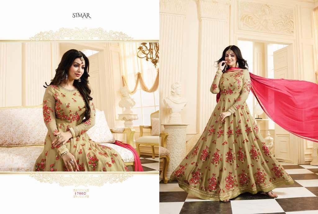 Glossy simar heavy design dress suvesa women