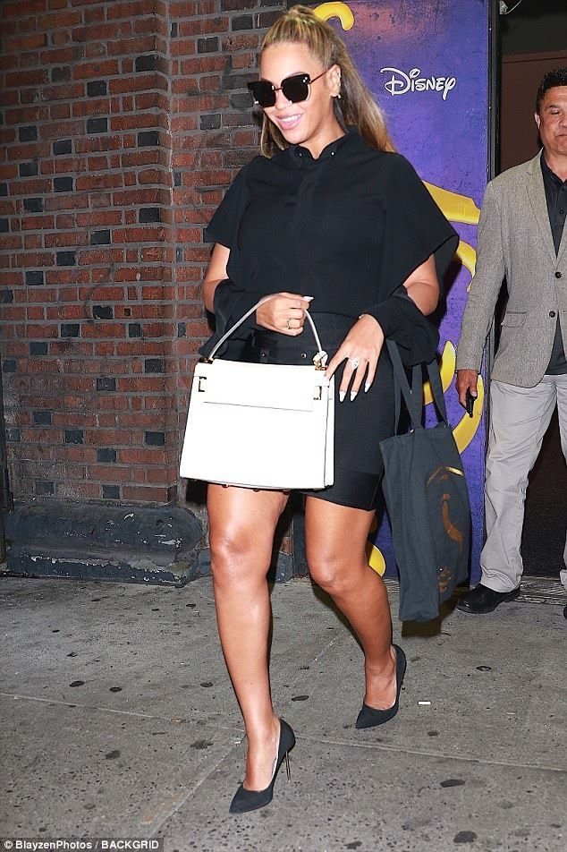 f96e336070ad5 Queen B  The superstar rocked an all black couture ensemble as she headed  back to her awaiting SUV