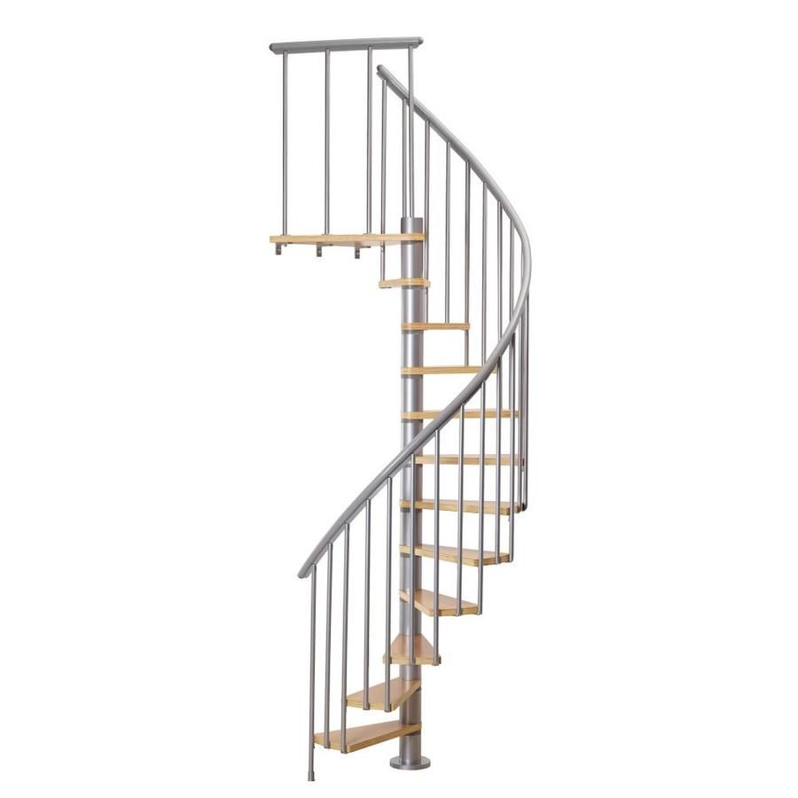 Best Dolle Calgary 47 In X 9 2 Ft Gray Spiral Staircase Kit 400 x 300