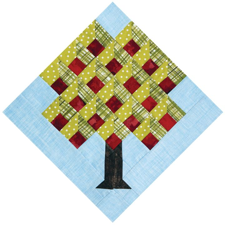 Quiltmaker's 100 Blocks Vol. 7, Apple Tree by June Dudley | QUILTS ... : apple tree quilting - Adamdwight.com