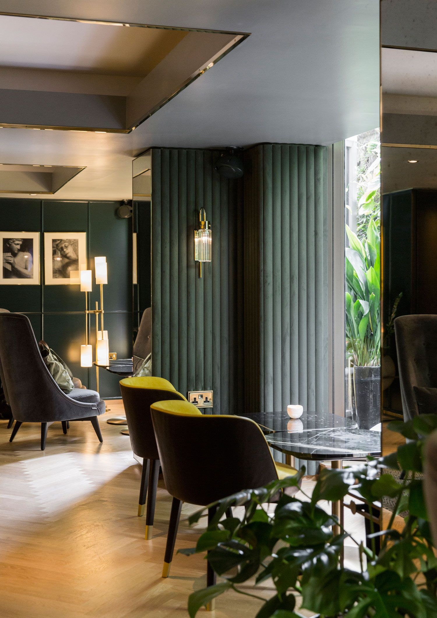 GUBI Beetle Chairs at Hotel V Amsterdam