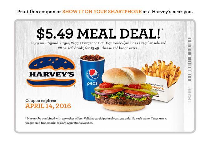 Good until April, 14th.  $5.49 Meal Deal.