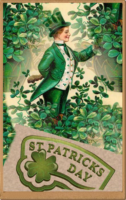Zoom Frases Tarjetas Vintage Para St Patricks Day