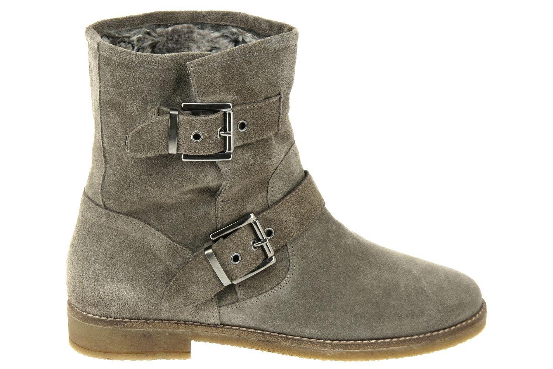 bottes reqins femme, couleur gris taupe. bottes fourrées mi-mollet