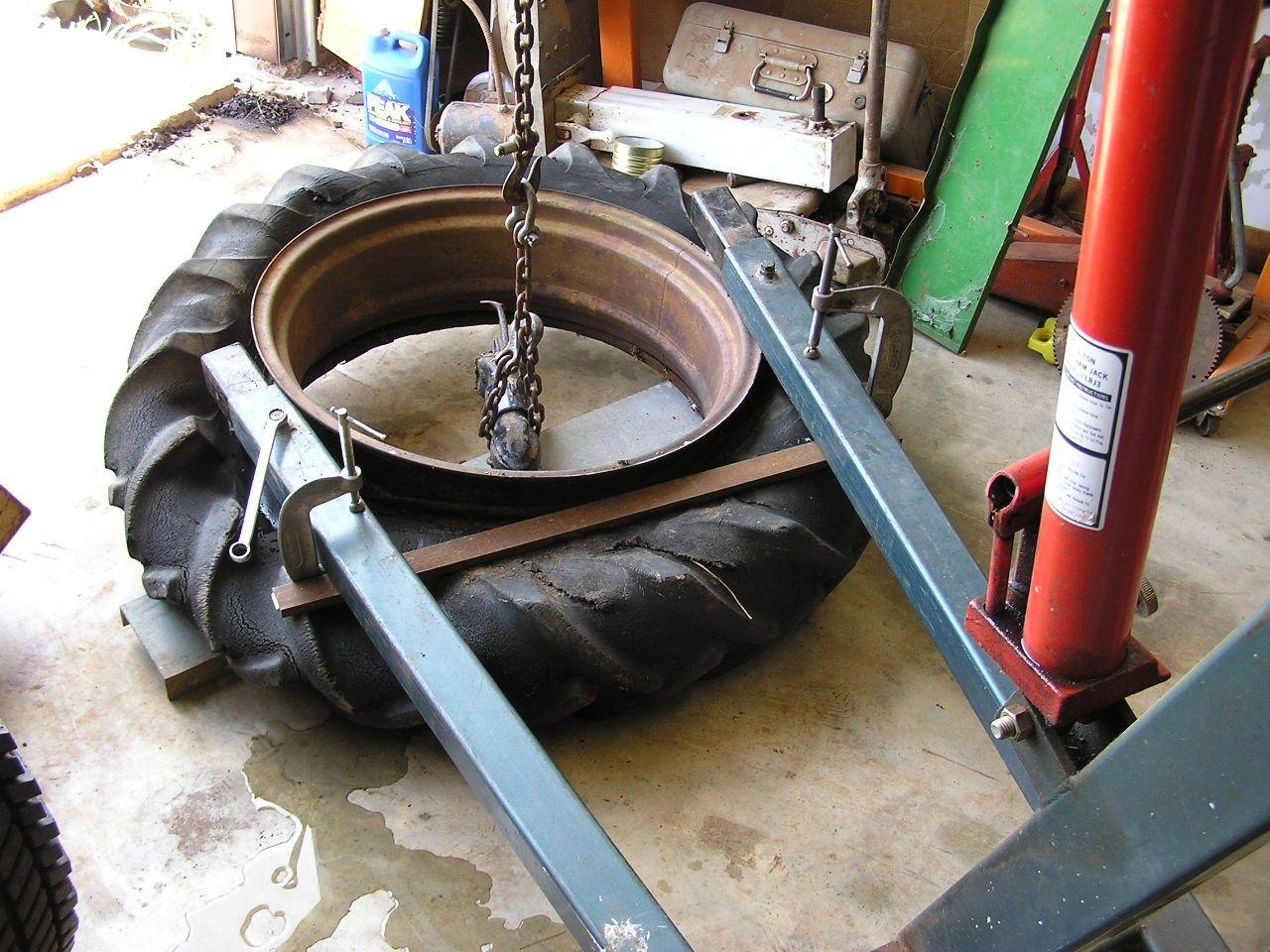 Homemade tire bead breaker tool  ford