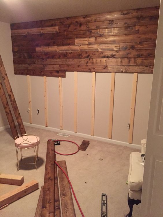 Wooden Accent Wall Tutorial More Things I need to try Pinterest - paredes de madera