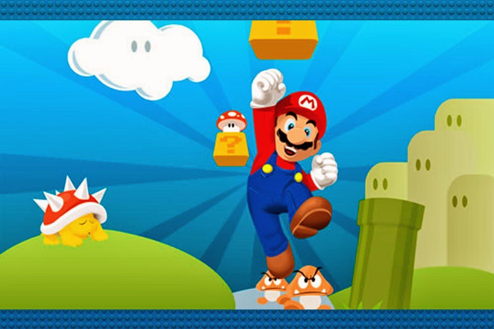 Super Mario Bros Imprimibles Invitaciones y Tarjetas Gratis – Mario Party Invitations