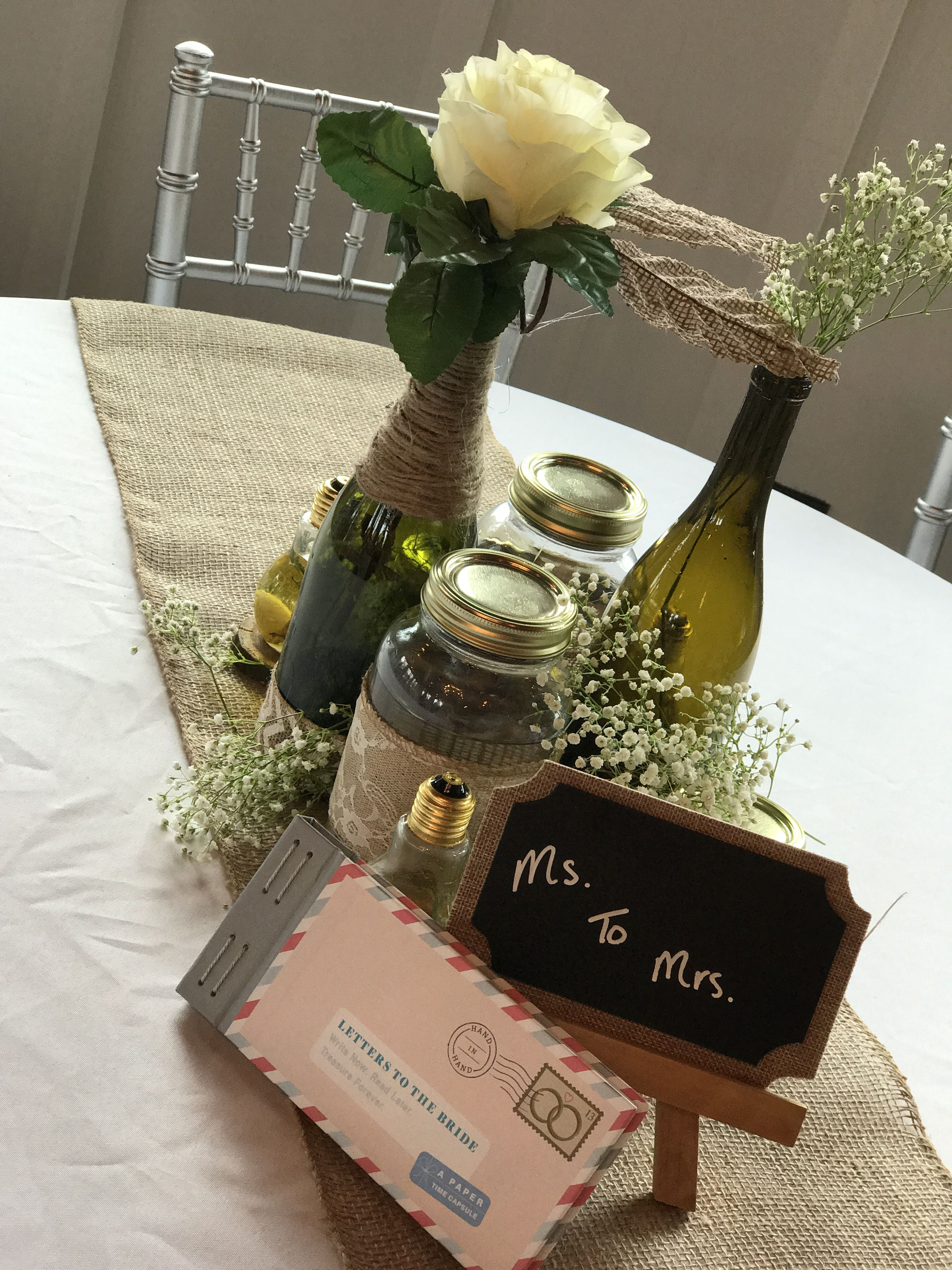 Wedding centerpieces wine mason jars yolous wedding pinterest