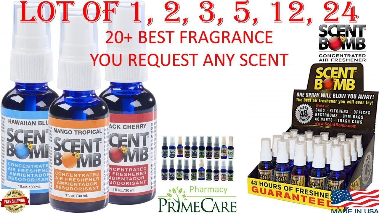 Scent Bomb 100 Concentrated Oil Air Freshener 1oz Car Home