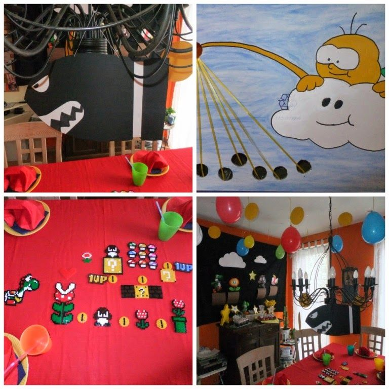 super mario geburtstagsparty kinderparty pinterest mario geburtstagsparty super mario. Black Bedroom Furniture Sets. Home Design Ideas