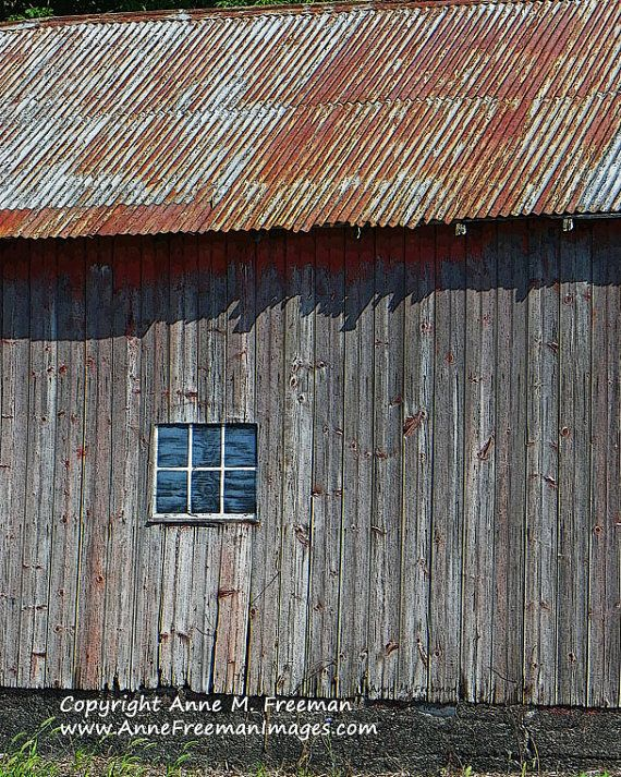 My Latest Barn Print Rusty Tin Roof Rustic Wall Decor Old By Annefreemanimages On Etsy 15 00