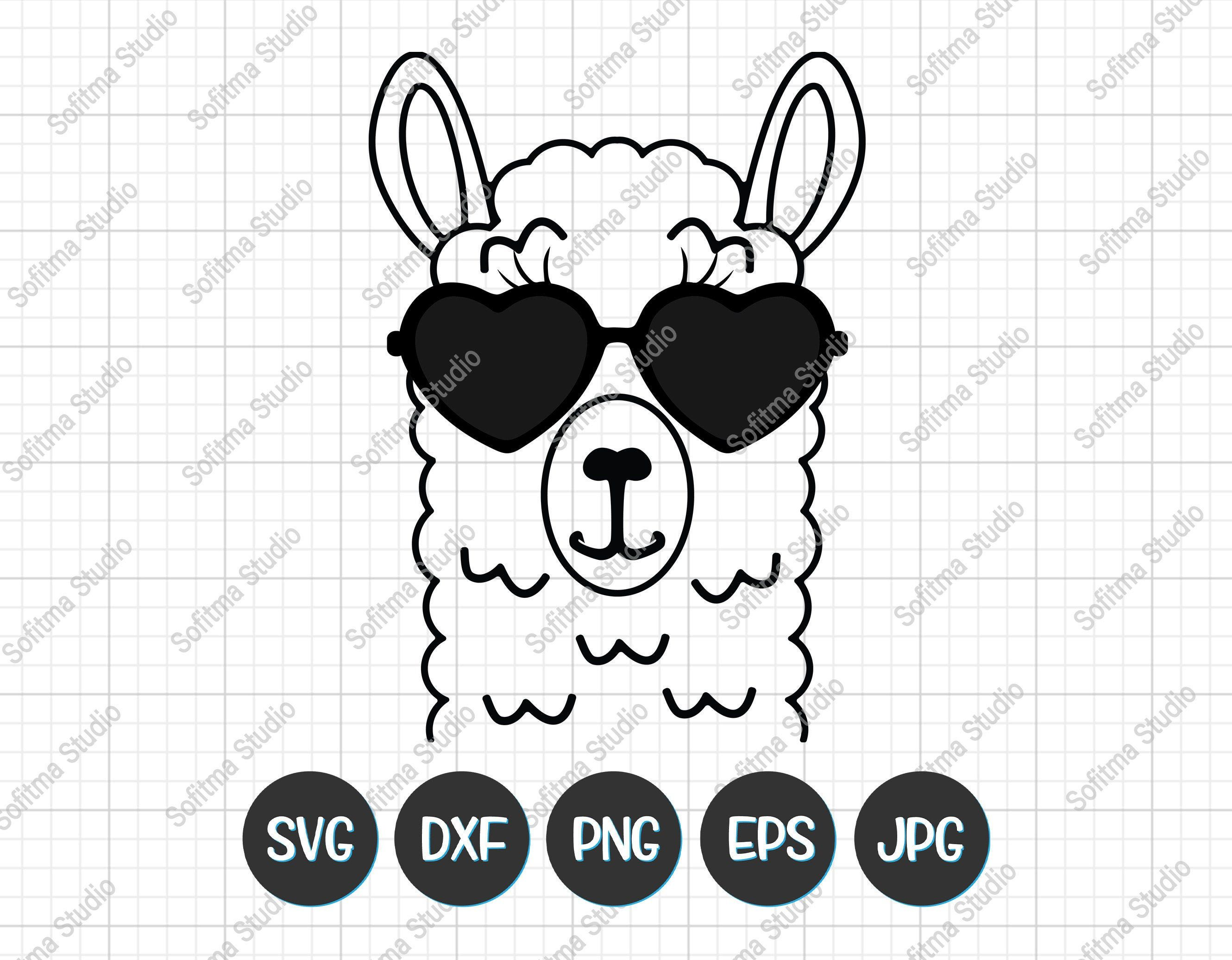 28++ Llama face clipart black and white ideas in 2021