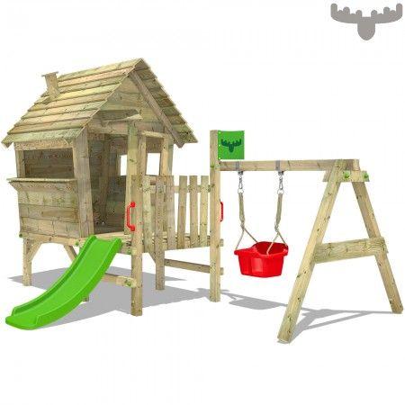 Spielhaus Vanillavilla Joy Xxl Spielhaus Mit Rutsche Spielhaus Schaukel Rutsche