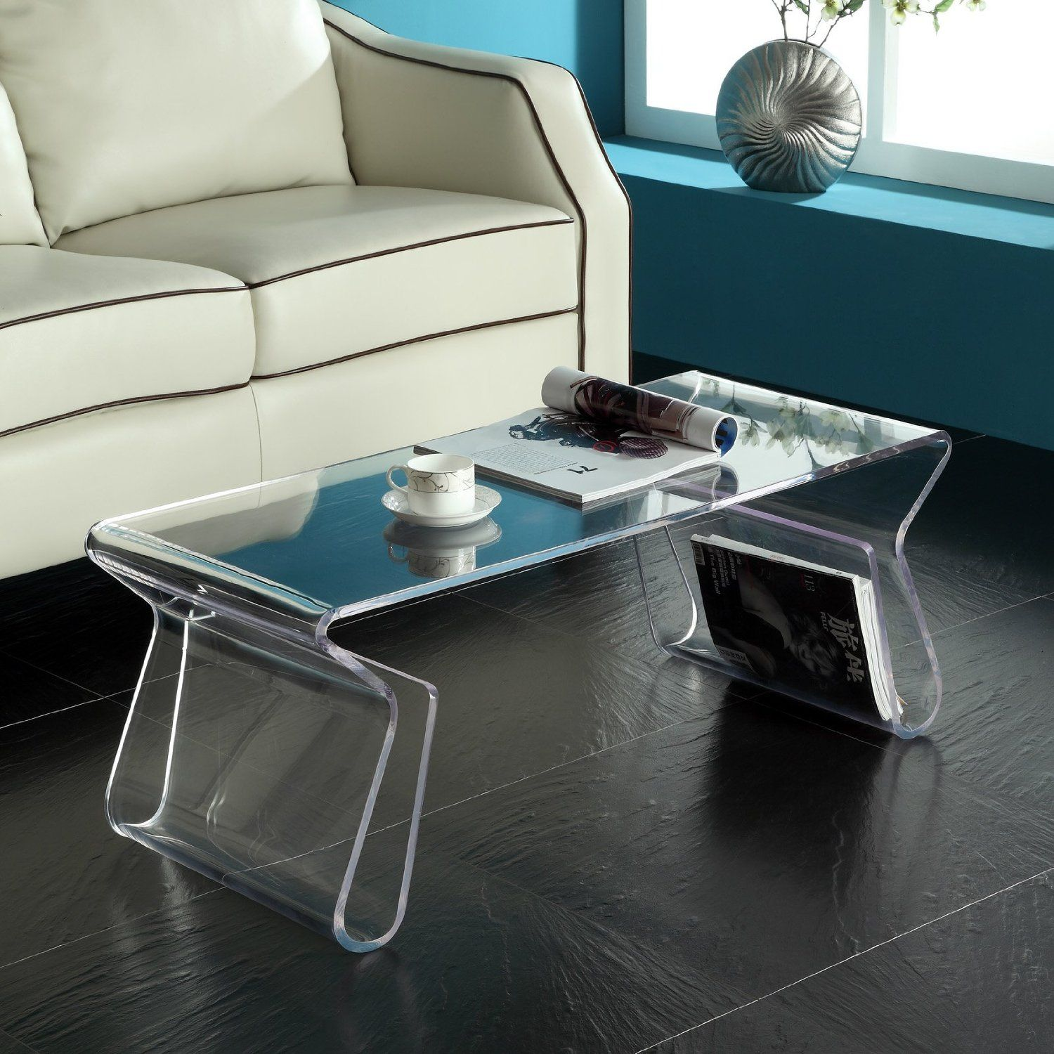 Look At This Clear Magazine Coffee Table