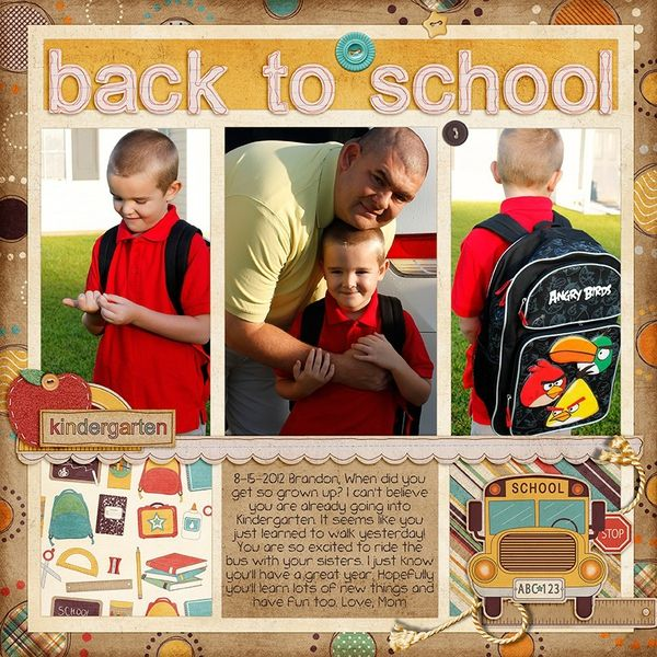 Back to school layout.