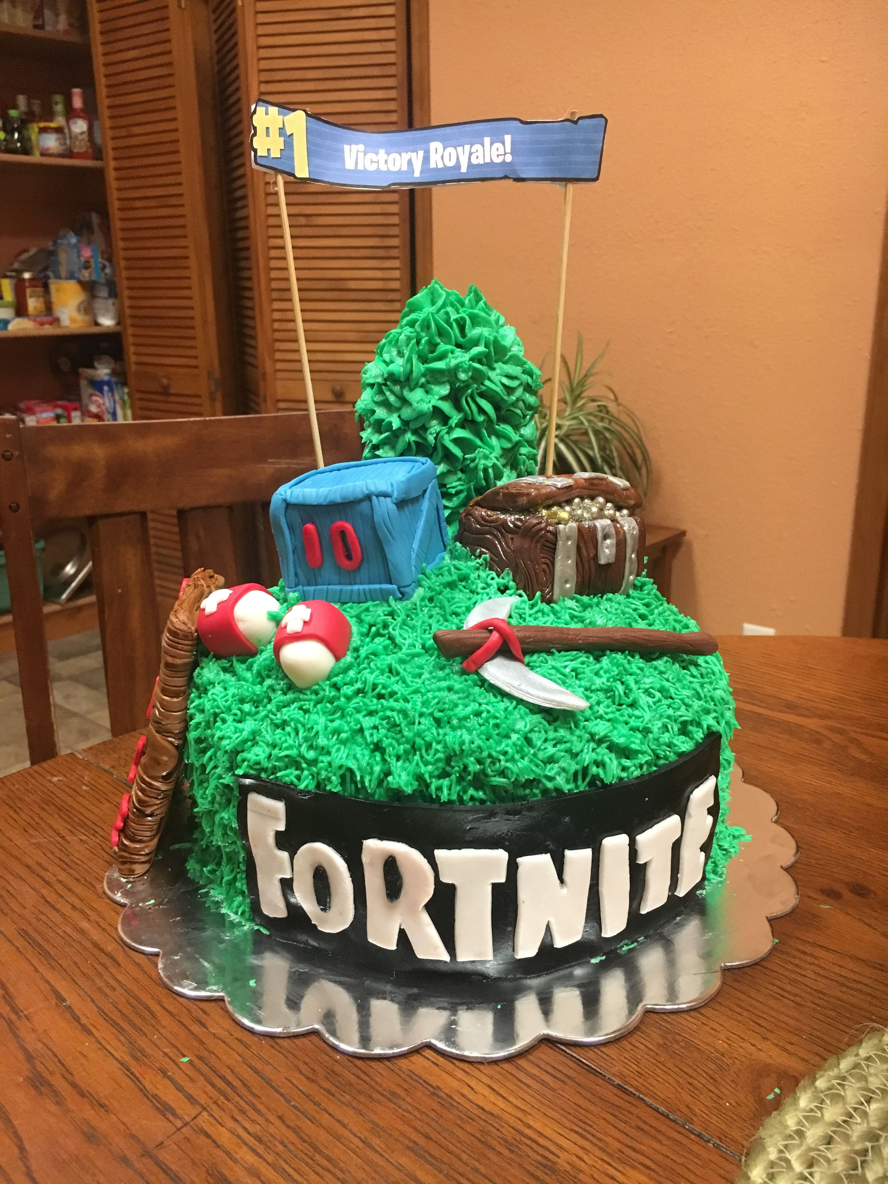 Fortnite Cake With Images Birthday Diy Cake 11th Birthday