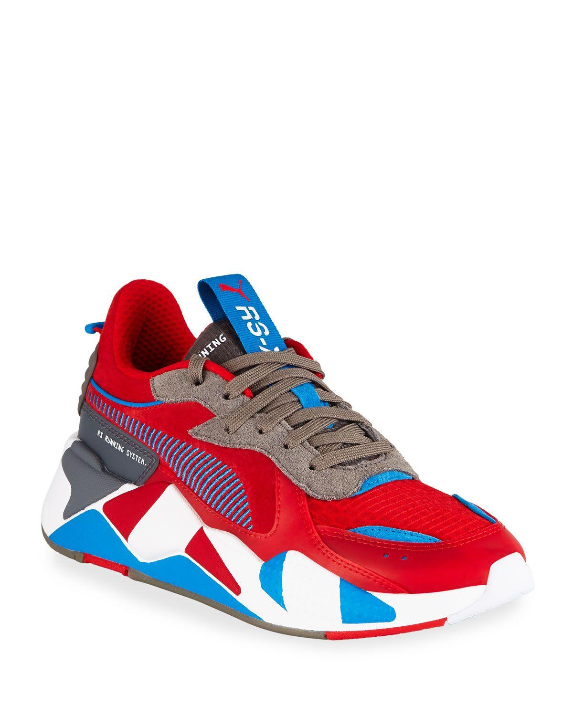 PUMA MEN'S RSX RETRO MIXEDMEDIA SNEAKERS. puma shoes