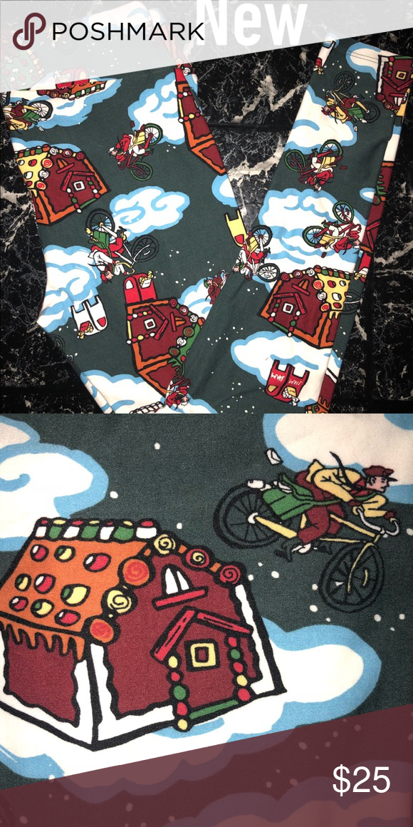 934d1b65a9c832 New w Tag Lularoe TC Gingerbread House Leggings Brand new with tag.  Beautiful themed Christmas Leggings. The houses are gingerbread.