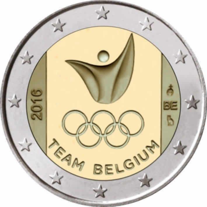 2 Euro Commemorative 2016 Belge Jeux Olympique D Ete 2016 A Rio De Janeiro Monnaie Ancienne Piece De Monnaie Ancienne Numismatique