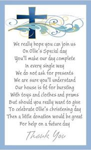 Christening Poem Asking For Money Google Search
