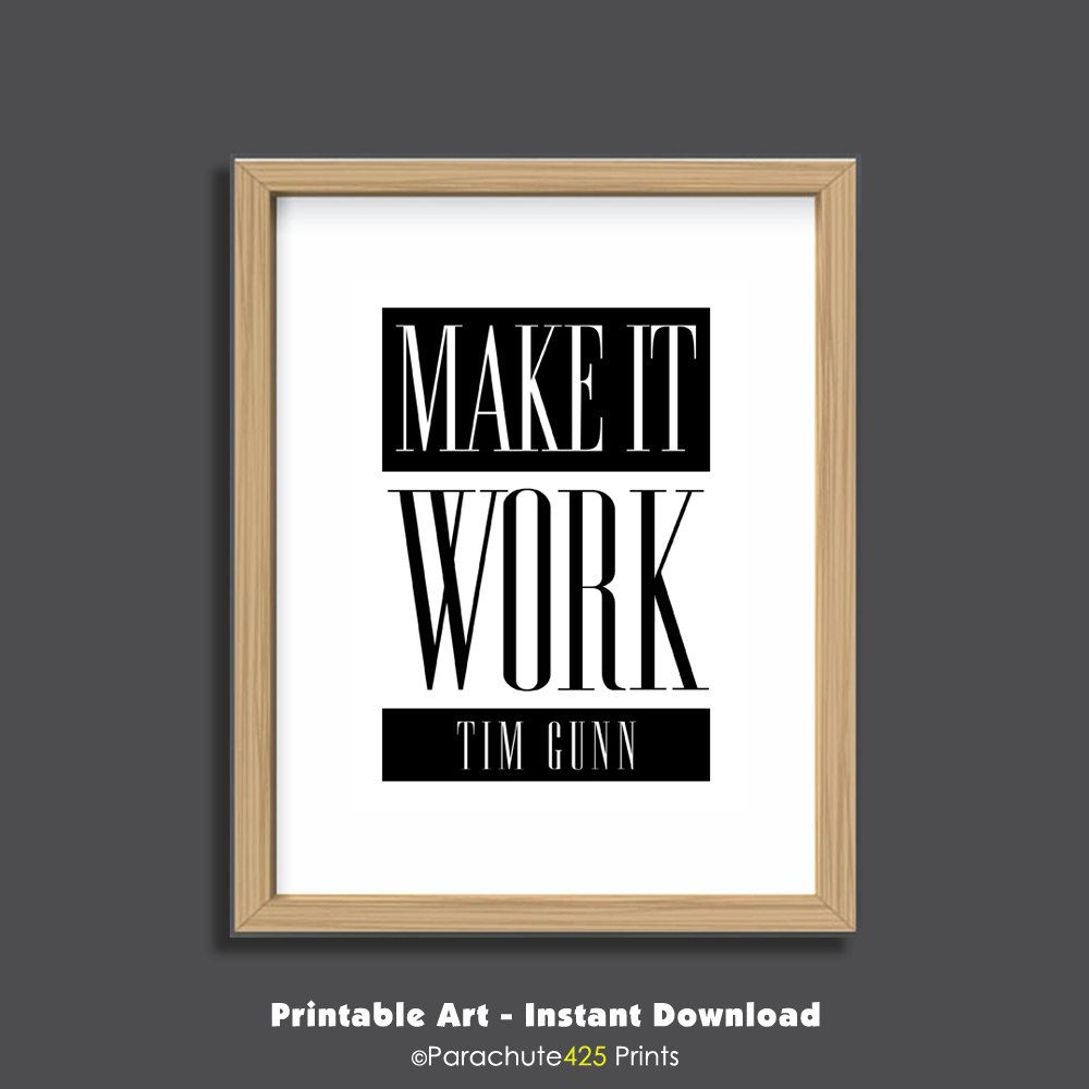 Make It Work, Printable Quote, Office Wall Art, Office