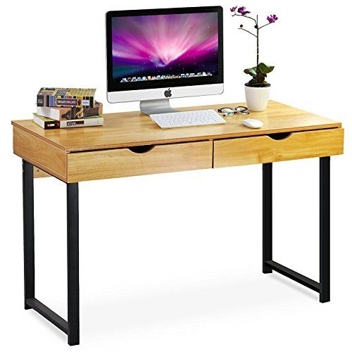 Tribesigns 47\u0027\u0027 Large Computer Desk, Home Office Study Writing Desk