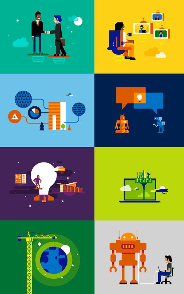 Microsoft RE&F by Dan Schlitzkus, via Behance ...