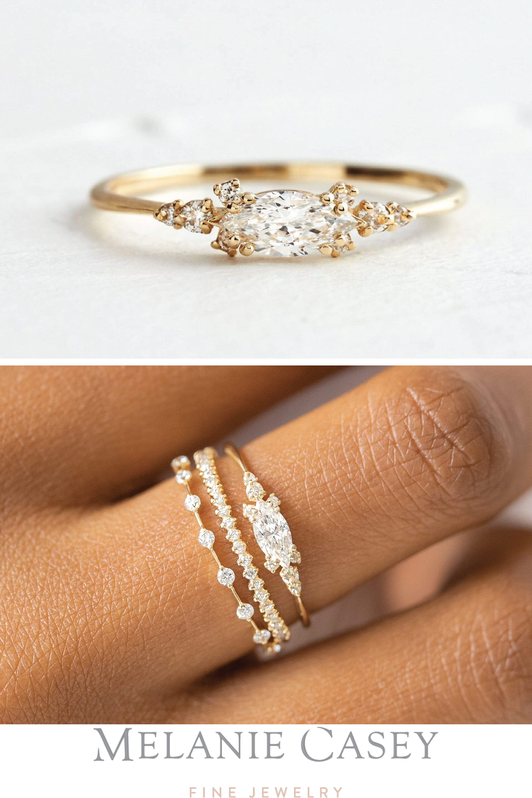 Diamond Eyelet Ring