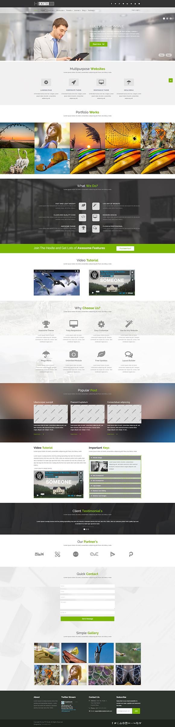 Hexite Bootstrap Joomla Template by TemplateMesh on Creative Market ...