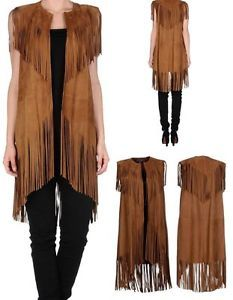 Ralph-Lauren-Collection-Jeanette-Clove-Fringed-Suede-Leather-Long-Vest-NWT-3598