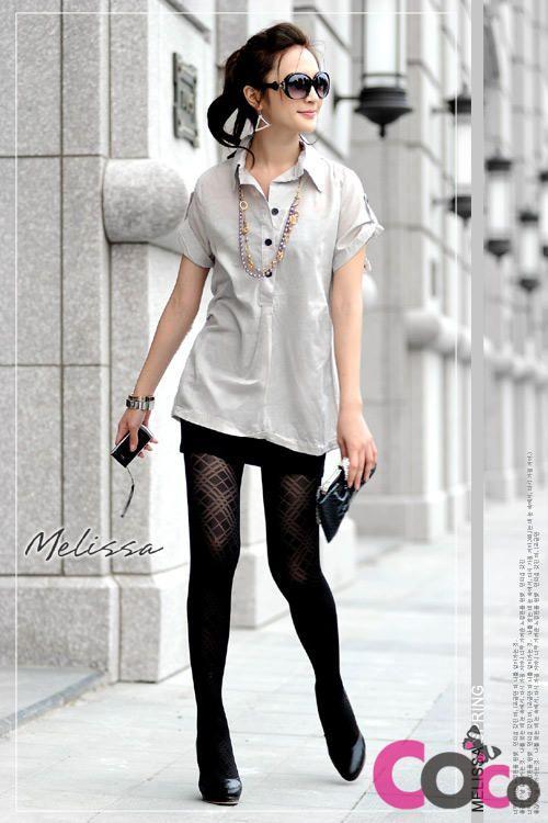Grey Cotton Buttons Shirt Elegant Melissa Shirt