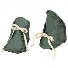 Baby Raw Edged Booties Sage