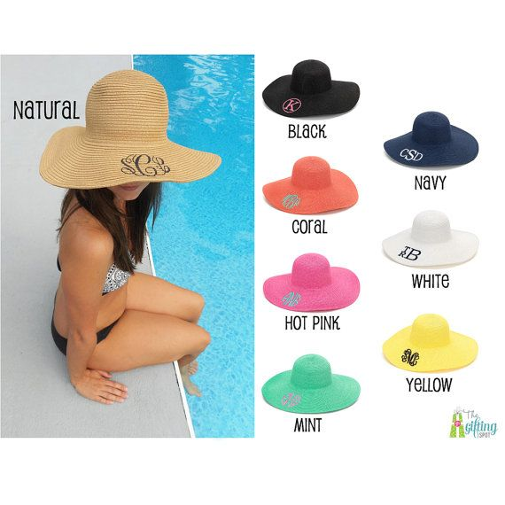 a4d129cd809 Monogrammed Floppy Hat