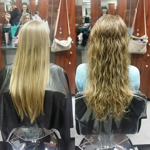Beach Wave Perm Before After
