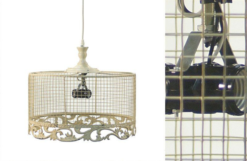 Large Chicken Wire Light Fixture | Chicken wire, Antique light ...