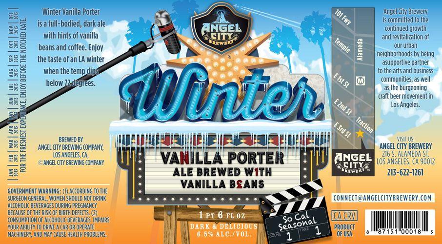 Winter Vanilla Porter, Angel Brewery, Los Angeles, CA